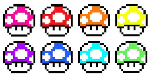Hongos de Mario Bros morados - Imagui