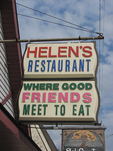 green river killer helen remus. Helen#39;s Restaurant Sign
