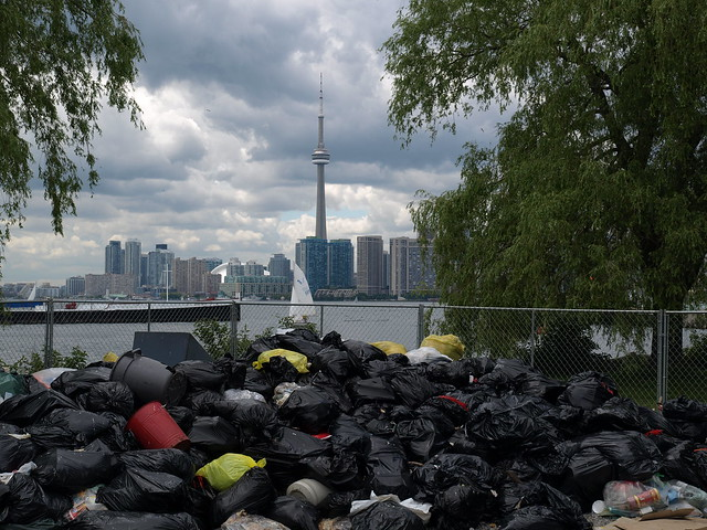 Toronto Skyline Garbage Strike