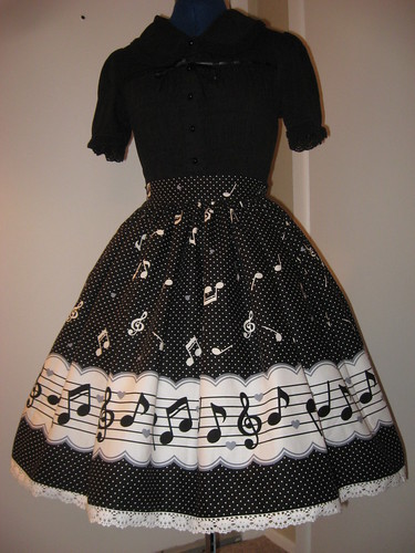 Music Note Border Skirt 003