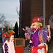 Rainbow the clown makes a rabbit appear