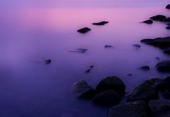 the pink puddle (KPEP) Tags: longexposure water burlington photoshop rocks purple olympus elements lakeontario pinksky hamiltonharbour e520 kpep pse7 kpepphotography kevinpepper httpwwwkpepphotographycomkpepblog