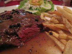 Steak au poivre vert - Vendôme, Vientiane, Laos