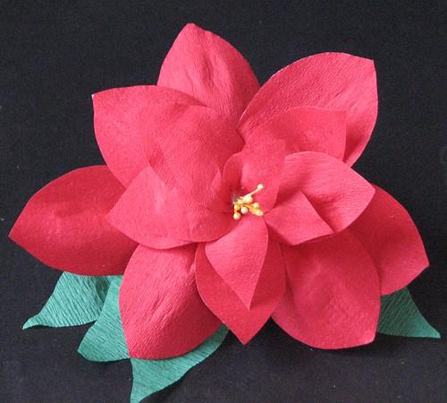 #12 - Crepe Paper Poinsettia 019