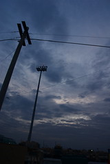 I fookin' 'ate wires. (TheMumblingInferno) Tags: afghanistan clouds dawn pole wires bagram