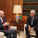 Συνάντηση με τον Υπουργό Εξωτερικών της Λιβύης, Moussa Koussa