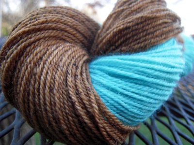 Santa Fe Square hand dyed BFL sockyarn by TreasureGoddess