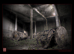 Mechanical Silos (il COE) Tags: photoshop canon dark lights factory shadows darkness decay plan ombre fisheye abandon silos luci 16mm abandonment hdr coe decadence buio sanitarium fabbrica abbandono oscurità decadenza photomatix abbandoni