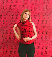 Wallpaper Portrait 6 (Donna Stevens Photography) Tags: wallpaper portraits print pattern humor copy bizarre repeat individuality