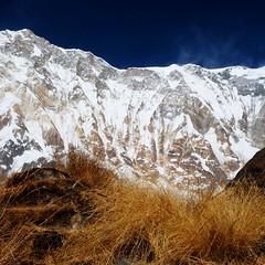 Annapurna I and Himalayan Range (nebulous 1) Tags: nepal nikon himalaya annapurna sanctuary himal annapurnasanctuary nebulous1