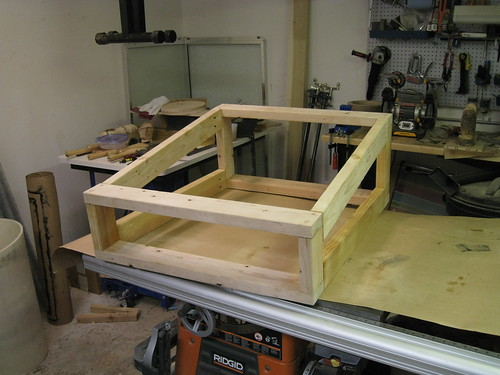 legs glued to top frame