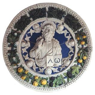 Andrea della Robbia, L'Eterno benedicente, 1480 ca. Empoli, Museo della Collegiata