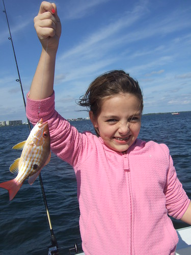 Lucia catches a Big Lane Snapper
