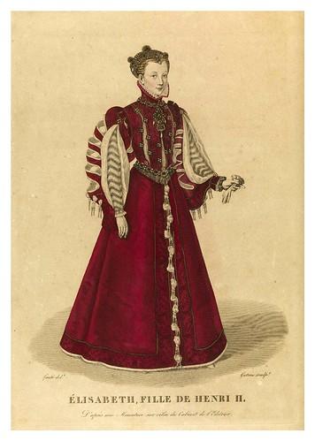 010-Élisabeth hija de Enrique II-Galerie Française de femmes célèbres 1827- Louis Marie Lanté