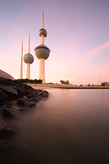 Stand still in Kuwait (mhels_13) Tags: sunset seascape tower kuwait ramil kuwaittower mhels13
