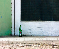 A lonely beer bottle