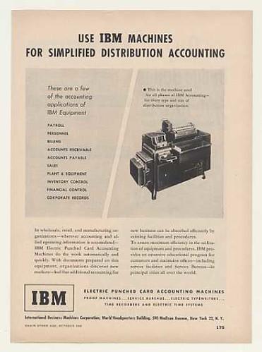 Máquina para contabilidad de IBM basada en tarjetas perforadas (1948)