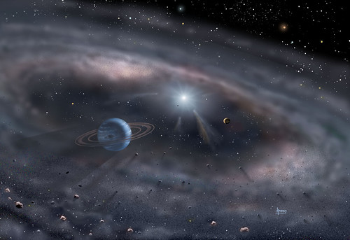Keck Telescopes Gaze into Young Star's Life Zone by David A. Hardy