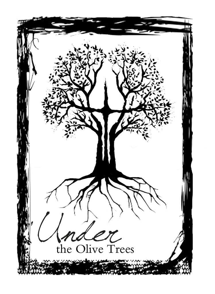 t-shirt design for the band UNDER THE OLIVE TREES