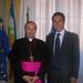 Francesco Scalia con l'Arcivescovo di Gaeta S. E. Mons. Fabio Bernardo D'Onorio