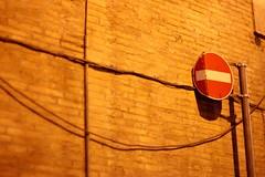 Il Solito Ignoto (2) (ilush) Tags: street red urban rome wall walking 50mm alone segnale stradale divieto accesso