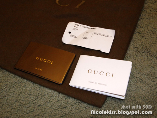 gucci indy bag cards