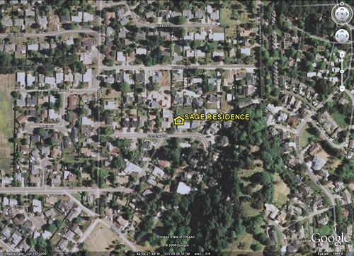 location of Sage residence (by: Google Earth)