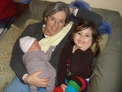 2 sisters with Grandma Kathi