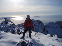 Me and another Mountain. (threejumps) Tags: winter snow skye ice me myself scotland mountaineering axe crampon alpinism i ilikedithereverymuchindeed