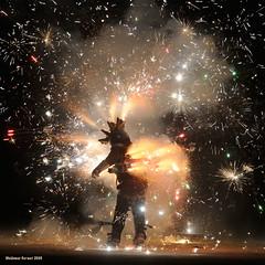 Burning Man (naturalturn) Tags: usa man art silhouette night fire jump jumping fireworks nevada gothic playa burningman blackrockcity burn rocket launch leap 2009 rocketship leaping raygun pyroboy wallyglenn burningman2009 image:rating=4 raygungothicrocketship burningman:art=438 burningman:event=1051 image:id=080842