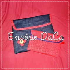 Capa de Notebook Red (emporiodaca) Tags: notebook handmade artesanato notebookbag capadenotebook empriodaca
