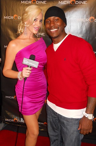 Kaki West, Tyrese Gibson, Microdine Product Launch