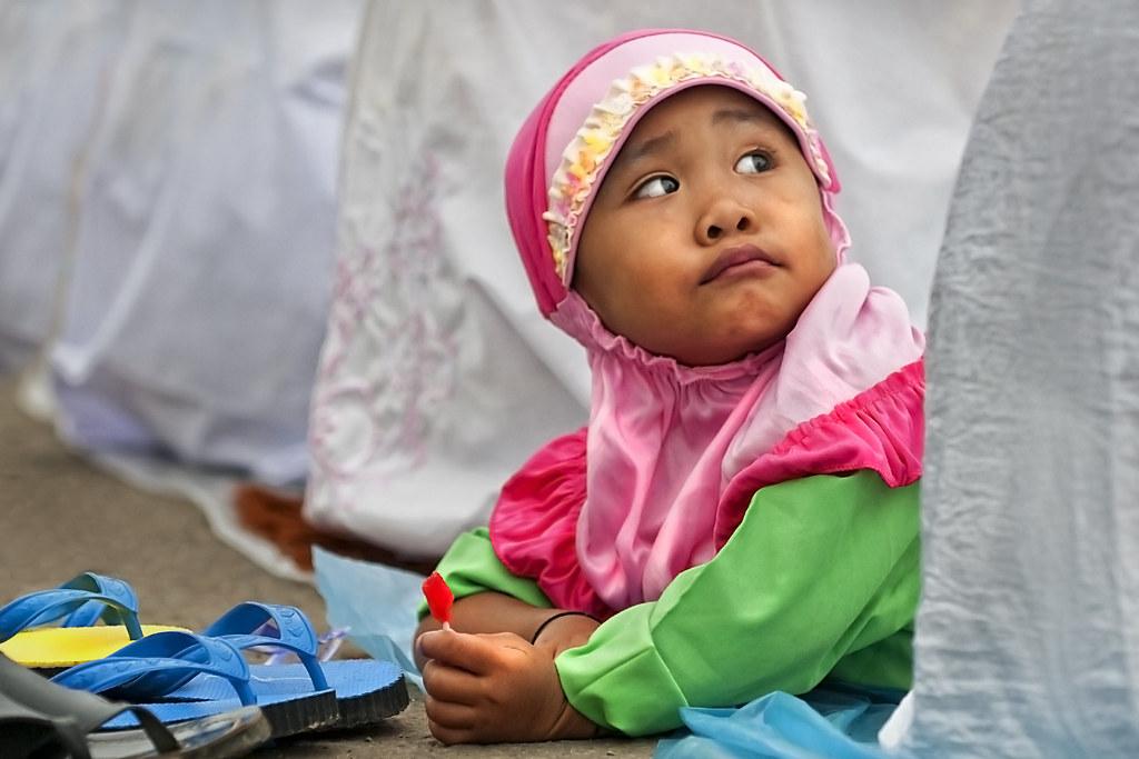 Hari Raya Haji, Tawau, Sabah - Portrait of a little girl