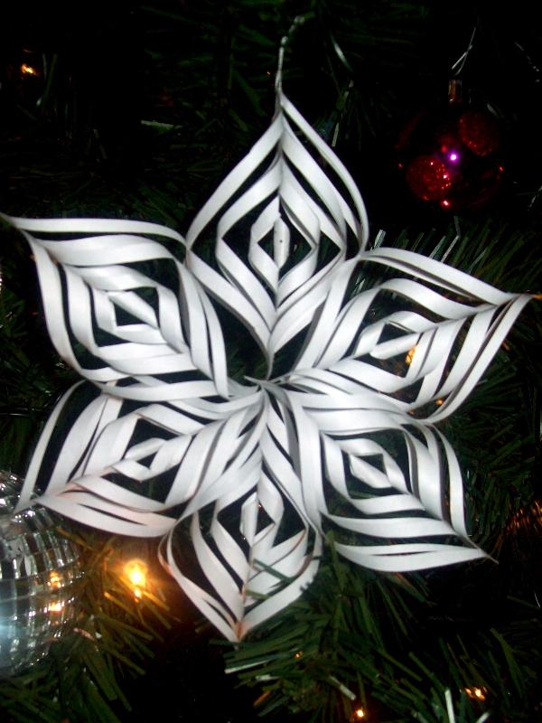 3D Kirigami Snowflake ornament