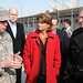 Lt. Gen. Caldwell talks with U.S. Senators Lisa Murkowski and Mitch McConnell during a tour