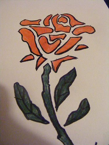 Rose Stencil Print 2