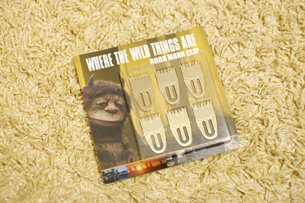 where the wild things are - book mark clip