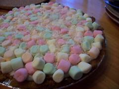 """Marshmallow Mermaid Pie"", inspired by the film ""Waitress"" (Mullen.Brian) Tags: pie dessert rainbow coconut marshmallow marshmallows pies sweets tarte brianmullen marshmallowmermaidpie foodinspiredbymovie waitresspie rainbowmarshmallows"
