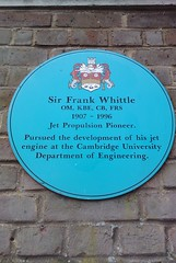 Photo of Frank Whittle blue plaque
