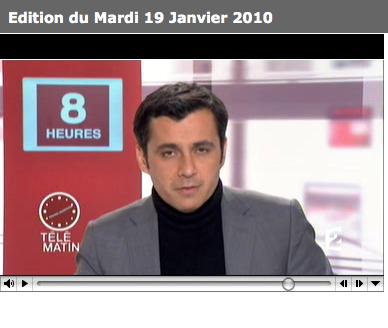 Journal télévisé de France 2 à 8h11