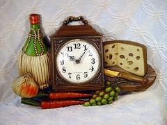 1972 World's Tackiest Clock (SurrendrDorothy) Tags: old kitchen cheese vintage weird antique maine retro ugly 70s tacky etsy 1970s decor seventies groovy homedecor badtaste vino artfire homegoods surrenderdorothy tastless raymondmaine zibbet