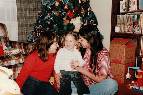 Maurya, Mom, and Becke - Christmas 1982