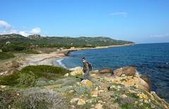 Peu après le départ de la boucle, arrivée sur la plage au Sud de Marina di Fiori