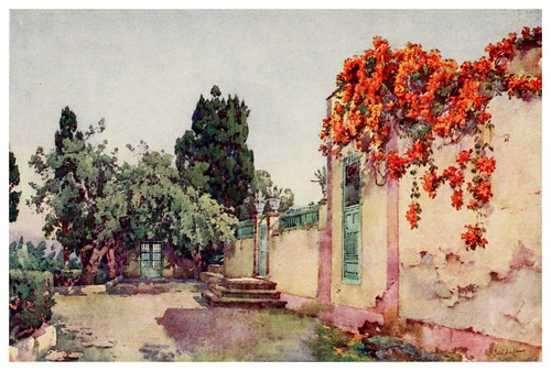 028-Entrada a una casa canaria-The Canary Islands (1911) -Ella Du Cane