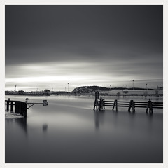 deserve attention (u n c o m m o n) Tags: bw cold water clouds gteborg sweden windy toned longexp ndx
