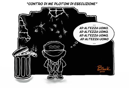 Berlusconi plotone esecuzione