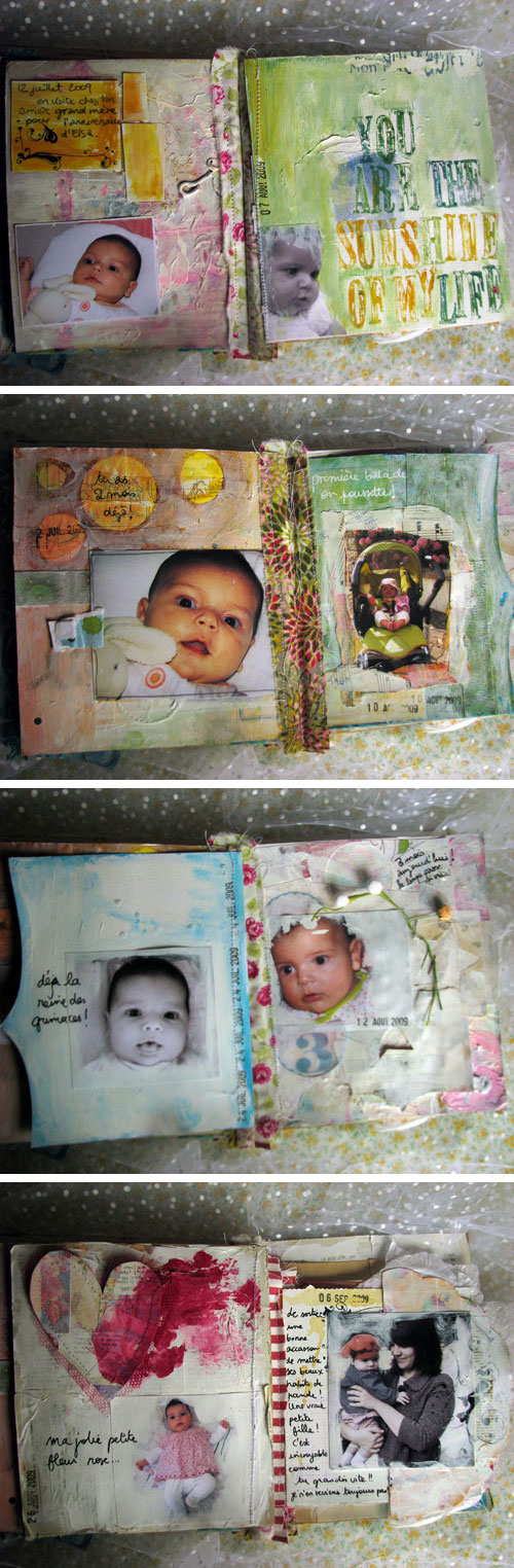 Louise 0-6 months art journal {pages 9-16}