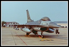 F-16C 84-1295 HR (Gaz West) Tags: f16c 841295 10th tfs 50th tfw based hahn ab germany captured raf lakenheath during excalibur ii 1990 was retired amarc 18th september 2007 fg0561 resides there still 84295 hr scanned from wet film negative f16 falcon tub twintub fighter fightertrainer generaldynamics lockheedmartin viper fightingfalcon fighting picnik interesting explore explored