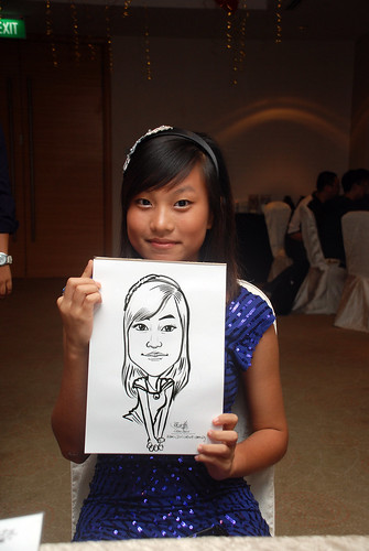 caricature live sketching for birthday party 220110 - 14