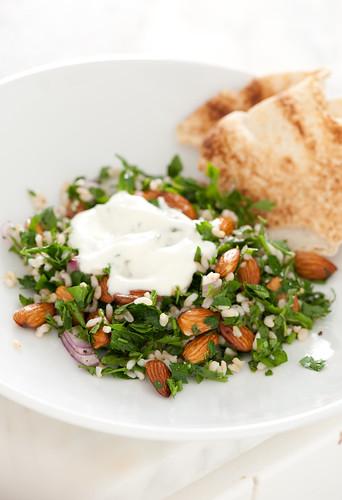 brown rice & almond tabouleh